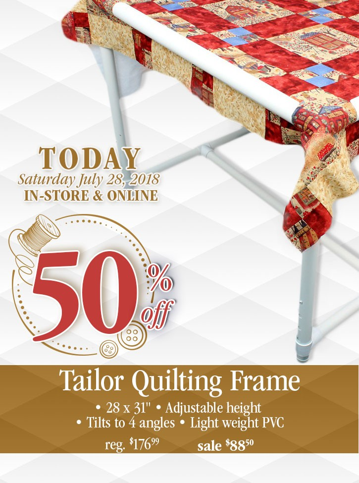 ▷ 1 Day Only - Save 50% off the Tailor Quilting Frame • Fabricville